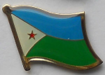 Djibouti Country Flag Enamel Pin Badge